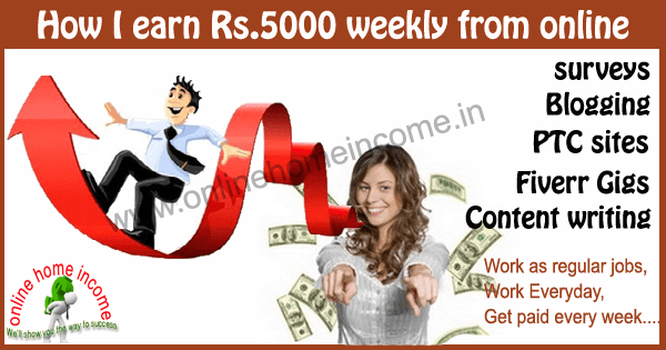 Earn money online rs5000
