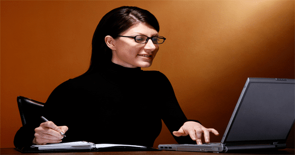 working women searching internet